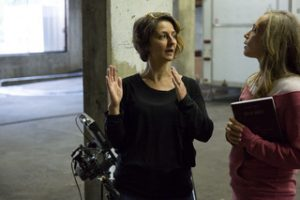 Sylvia Zaradic directing on set